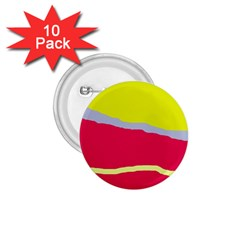 Red and yellow design 1.75  Buttons (10 pack)