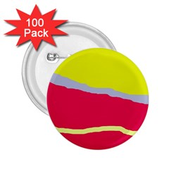 Red and yellow design 2.25  Buttons (100 pack)