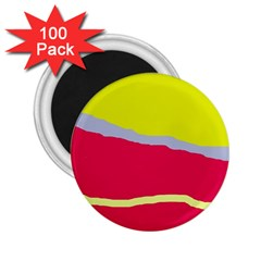 Red and yellow design 2.25  Magnets (100 pack)