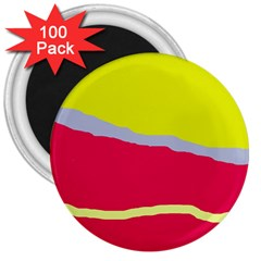 Red and yellow design 3  Magnets (100 pack)