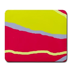 Red and yellow design Large Mousepads
