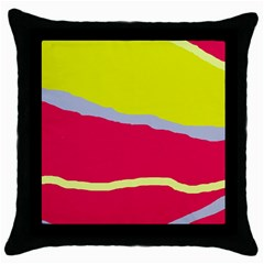 Red and yellow design Throw Pillow Case (Black)