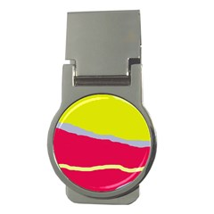Red and yellow design Money Clips (Round)