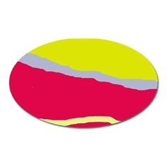 Red and yellow design Oval Magnet