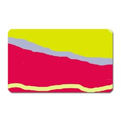 Red and yellow design Magnet (Rectangular)