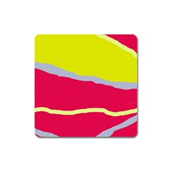 Red and yellow design Square Magnet