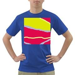 Red and yellow design Dark T-Shirt