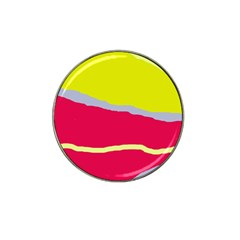 Red and yellow design Hat Clip Ball Marker