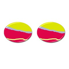 Red and yellow design Cufflinks (Oval)