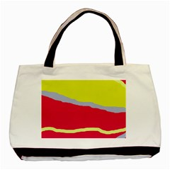 Red and yellow design Basic Tote Bag