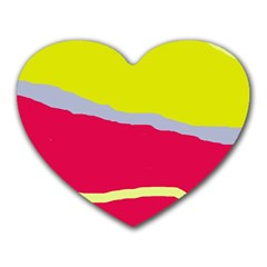Red and yellow design Heart Mousepads