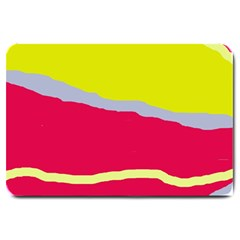 Red and yellow design Large Doormat