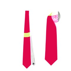 Red and yellow design Neckties (One Side)