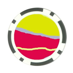 Red and yellow design Poker Chip Card Guards