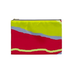 Red and yellow design Cosmetic Bag (Medium)