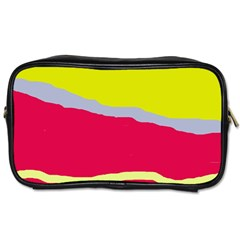 Red and yellow design Toiletries Bags