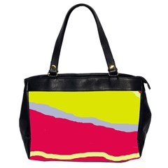 Red and yellow design Office Handbags (2 Sides)