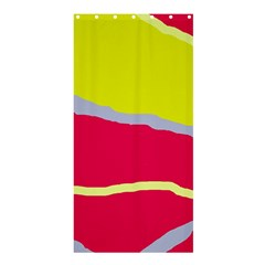 Red and yellow design Shower Curtain 36  x 72  (Stall)