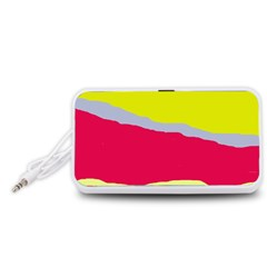 Red and yellow design Portable Speaker (White)