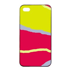 Red and yellow design Apple iPhone 4/4s Seamless Case (Black)