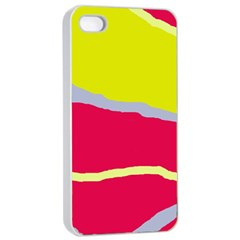 Red and yellow design Apple iPhone 4/4s Seamless Case (White)