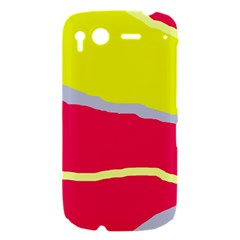 Red and yellow design HTC Desire S Hardshell Case
