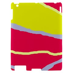 Red and yellow design Apple iPad 2 Hardshell Case