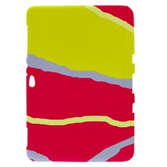 Red and yellow design Samsung Galaxy Tab 8.9  P7300 Hardshell Case
