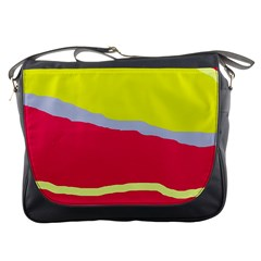 Red and yellow design Messenger Bags
