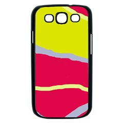 Red and yellow design Samsung Galaxy S III Case (Black)