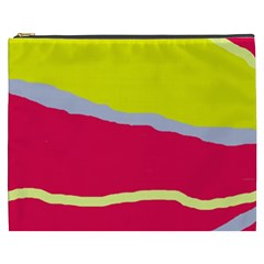Red and yellow design Cosmetic Bag (XXXL)