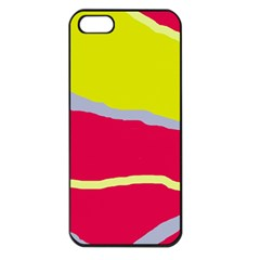 Red and yellow design Apple iPhone 5 Seamless Case (Black)