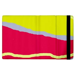 Red and yellow design Apple iPad 3/4 Flip Case