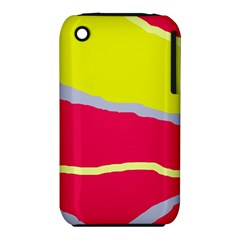 Red and yellow design Apple iPhone 3G/3GS Hardshell Case (PC+Silicone)