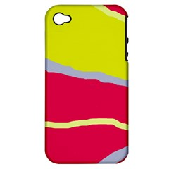 Red and yellow design Apple iPhone 4/4S Hardshell Case (PC+Silicone)