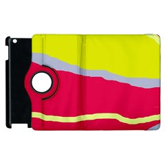 Red and yellow design Apple iPad 2 Flip 360 Case