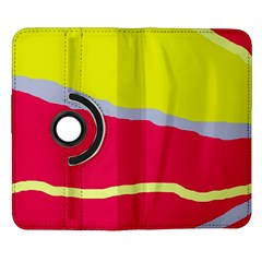 Red and yellow design Samsung Galaxy Note II Flip 360 Case