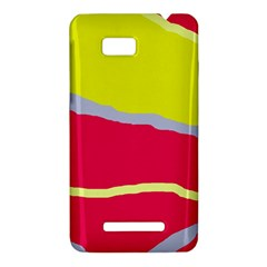 Red and yellow design HTC One SU T528W Hardshell Case
