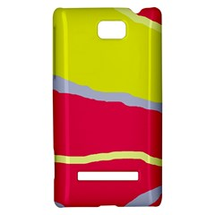 Red and yellow design HTC 8S Hardshell Case