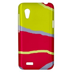 Red and yellow design HTC Desire VT (T328T) Hardshell Case