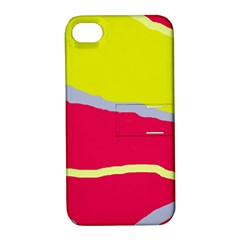 Red and yellow design Apple iPhone 4/4S Hardshell Case with Stand