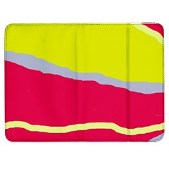 Red and yellow design Samsung Galaxy Tab 7  P1000 Flip Case