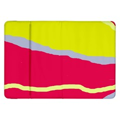 Red and yellow design Samsung Galaxy Tab 8.9  P7300 Flip Case