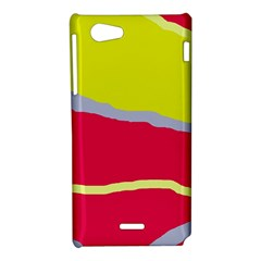 Red and yellow design Sony Xperia J