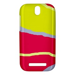 Red and yellow design HTC One SV Hardshell Case