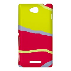 Red and yellow design Sony Xperia C (S39H)