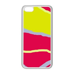 Red and yellow design Apple iPhone 5C Seamless Case (White)