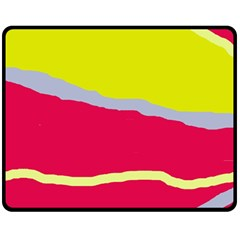 Red and yellow design Double Sided Fleece Blanket (Medium)