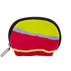 Red and yellow design Accessory Pouches (Small)