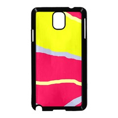 Red and yellow design Samsung Galaxy Note 3 Neo Hardshell Case (Black)